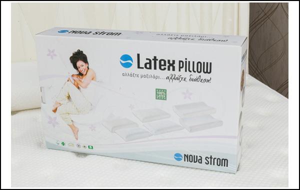 Μαξιλάρι 100% Latex 12 εκατοστών